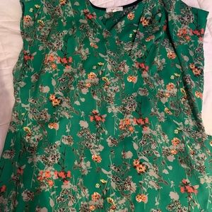 Bright green Large top w/ flowers from Nordstrom